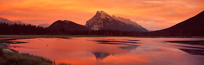 Mt Rundle & Vermillion Lakes Banff Art Print by Panoramic Images