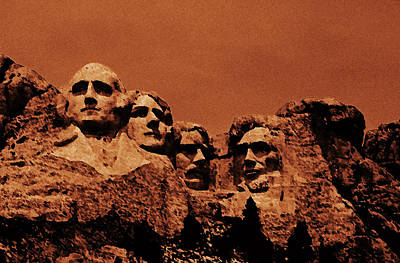 Photograph - Mt. Rushmore by Jacqueline  DiAnne Wasson