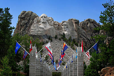 Photograph - Mt. Rushmore by Mary Jo Allen