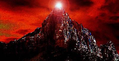 Burning Bush Painting - Moses On Mount Sinai by David Lee Thompson