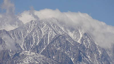 Photograph - Mt. San Jacinto In Clouds by Patrick Morgan