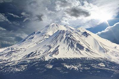 Home Decoration Photograph - Mt Shasta by Athala Carole Bruckner