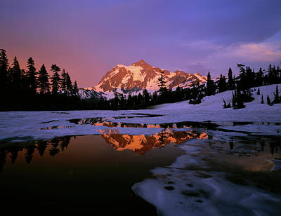 Mt. Shuksan Reflecting Into A Partial Print by Panoramic Images