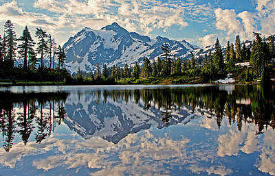 Photograph - Mt. Shuksan Reflection by Shari Sommerfeld