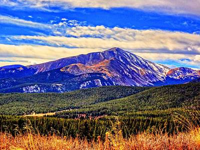 Art Print featuring the photograph Mt. Silverheels II by Lanita Williams