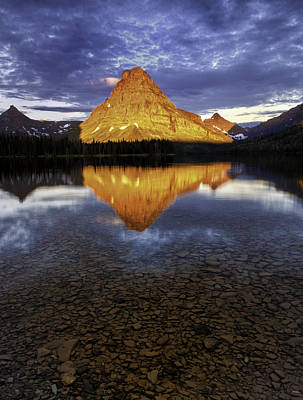 Photograph - Mt Sinopah - Two Medicine Lake by Expressive Landscapes Fine Art Photography by Thom