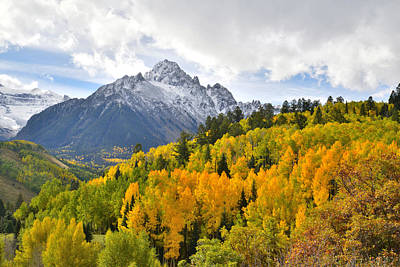Photograph - Mt. Sneffels Color by Ray Mathis