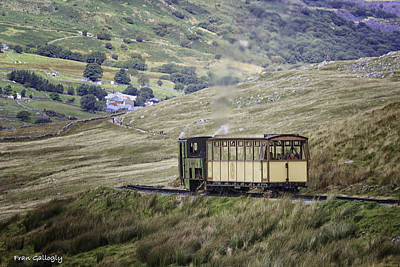 Photograph - Mt. Snowdon Cog Railway by Fran Gallogly