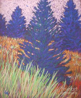 Art Print featuring the painting Mt. Tabor Trees by Suzanne McKay