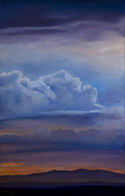 Painting - Mt. Taylor Sunset by Jack Atkins