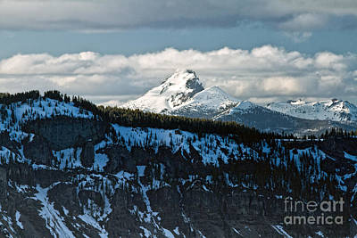 Photograph - Mt. Thielsen From Crater Lake by Stuart Gordon