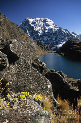Zongo Photograph - Mt Tiquimani Cordillera Real Bolivia by James Brunker