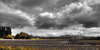 Photograph - Mt Vernon Farmland - Washington State by David Patterson