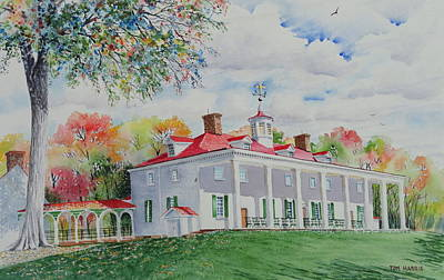 Mt. Vernon In The Fall Original by Tom Harris