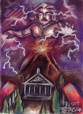 Painting - Mt. Vesuvius - Jupiter's Fury by Samantha Geernaert