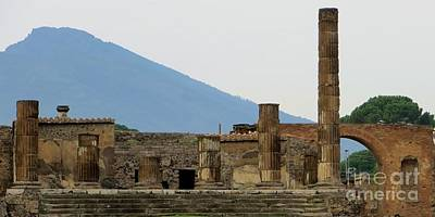 Photograph - Mt. Vesuvius Pompeii by Tim Townsend