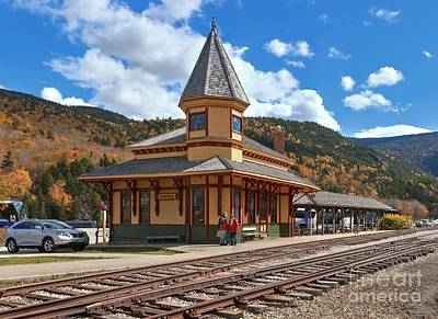 Photograph - Mt Washington Railroad - Crawford Depot by Adam Jewell
