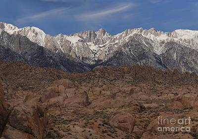 Photograph - Mt. Whitney In The Alabama Hills by Adam Jewell