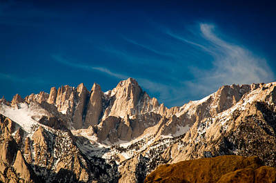 Art Print featuring the photograph Mt Whitney On A Winter Day by Janis Knight