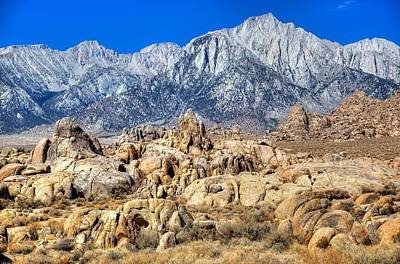Photograph - Mt. Whitney Over Alabama Hills by Joe Urbz