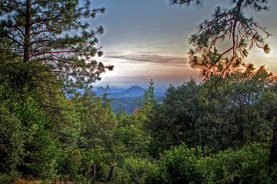 Amador County Photograph - Mt. Zion Lookout To Jackson Butte by SC Heffner