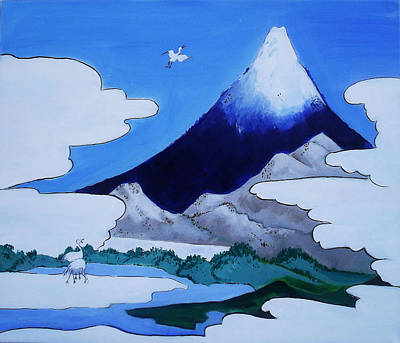Painting - Mt.fuji by Gloria Dietz-Kiebron