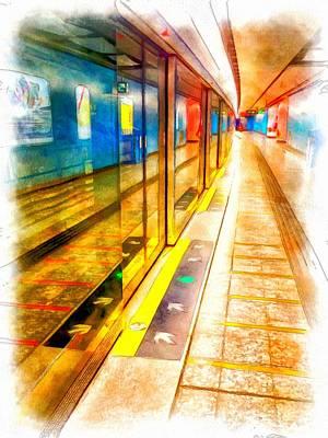 Mtr Admiralty Station In Hong Kong Art Print by Yury Malkov