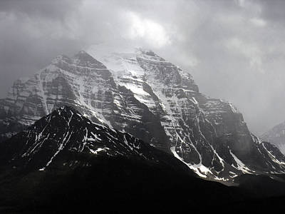 Photograph - Mts Just Outside Lake Louise by Robert Lozen