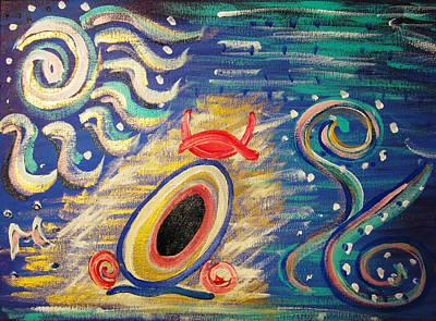Atlantis Painting - Mu by Geert Hemelings