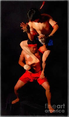 Muay Thai Arts Of Fighting Art Print by Rames Ratyantarakor