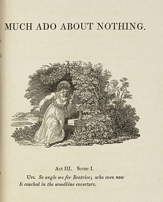 Edition Photograph - Much Ado About Nothing. Act IIi by British Library
