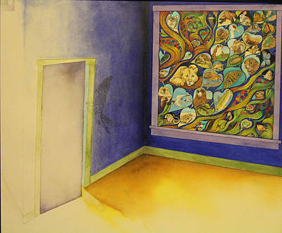 Otter Mixed Media - Much In The Window Little In The Room by J Tanner