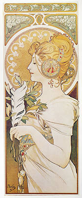 Painting - Mucha Feather, 1899 by Granger
