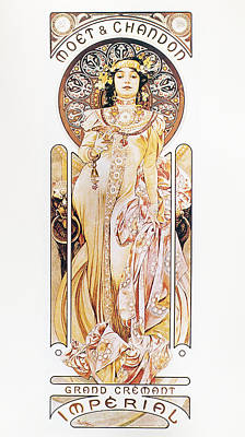 Champagne Painting - Mucha Moet And Chandon by Granger