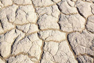 Dry Lake Photograph - Mud Cracks In Death Valley by Ashley Cooper
