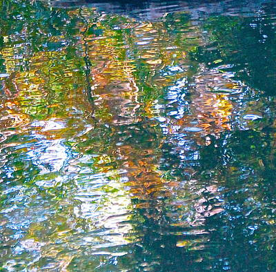Photograph - Mud Creek Reflection by Wendell Lowe