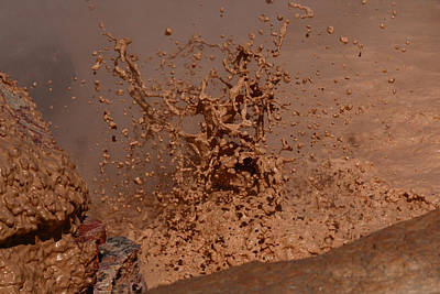 Photograph - Mud Explosion 3 by Jon Emery