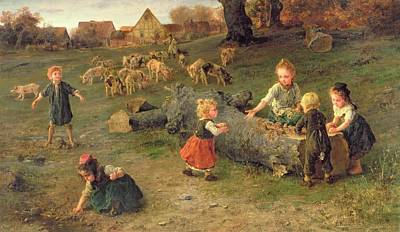 Toddler Painting - Mud Pies by Ludwig Knaus