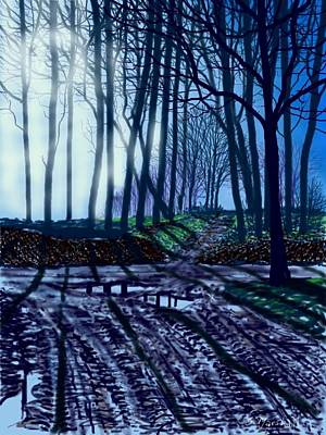 Hockney Painting - Muddy Road To Woldgate by Glenn Marshall