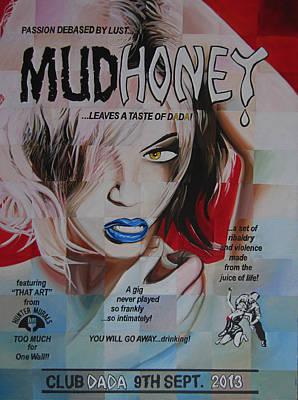 Rock N Roll Drawing - Mudhoney by Steve Hunter