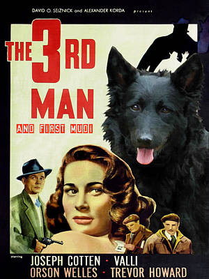 Painting - Mudi Art Canvas Print - The Third Man Movie Poster by Sandra Sij
