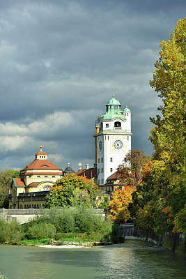 Photograph - Muellersches Volksbad With River Isar by Andreas Strauss / Look-foto