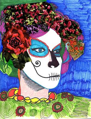 Mixed Media - Muerte by Phyllis Anne Taylor Pannet Art Studio