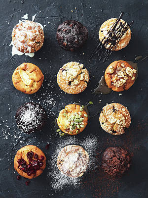 Photograph - Muffins With Nuts, Fruits And Chocolate by Eugene Mymrin