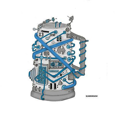 Electronics Drawing - Mug 13.00 by Larry Scarborough