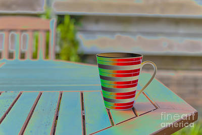 Photograph - Mug On A Garden Table by Jim Orr