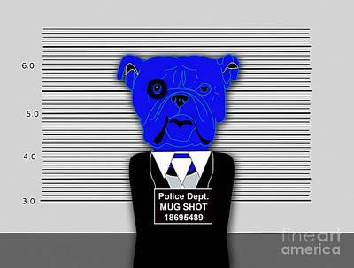Dog Mixed Media - Mug Shot by Marvin Blaine