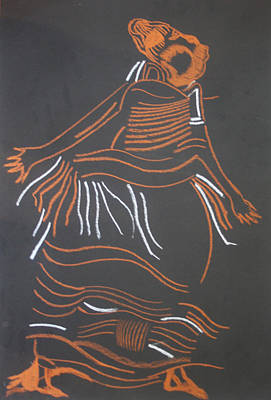 African Traditional Dances Painting - Muganda Lady - Uganda by Gloria Ssali