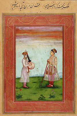 Aristocrat Photograph - Mughal Prince With Musician by British Library