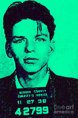 Mugshot Frank Sinatra V1m128 Art Print by Wingsdomain Art and Photography